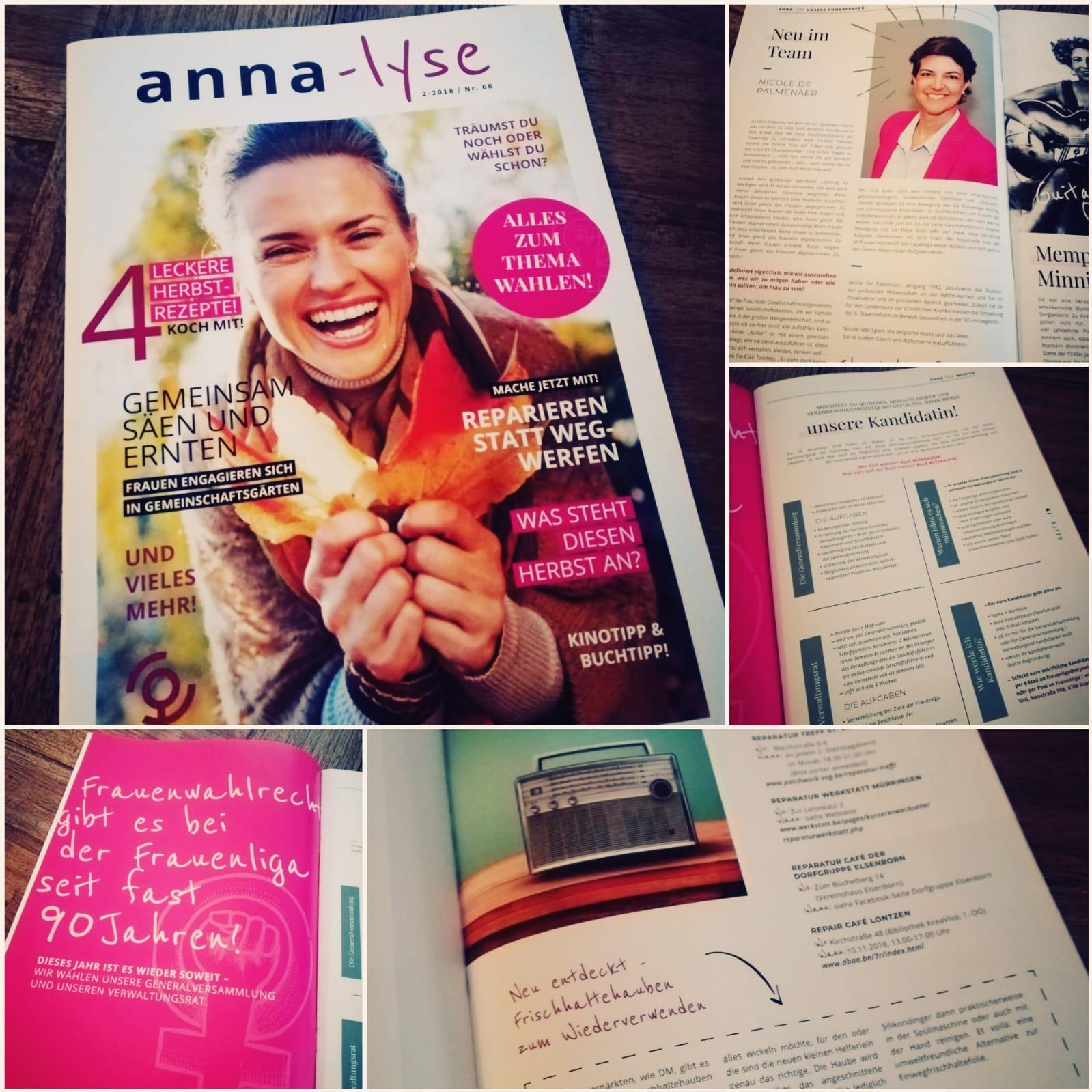 Für unsere Zeitschrift anna-lyse