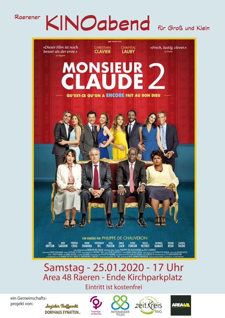 Raerener KINOabend für Groß und Klein: Monsieur Claude 2