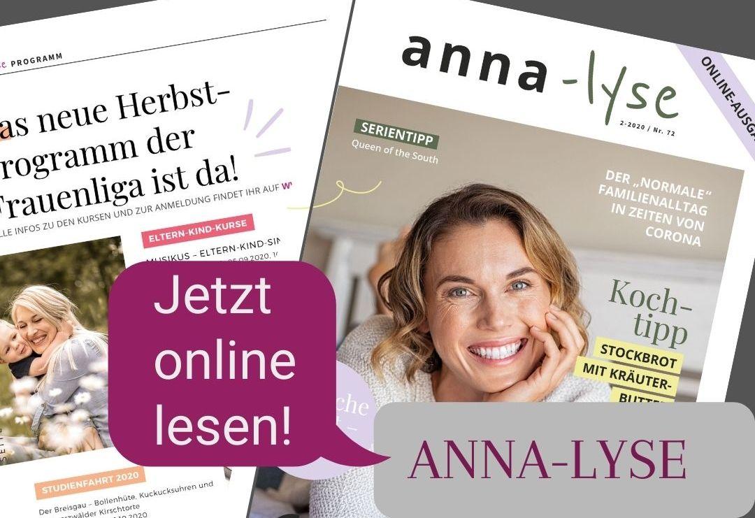 Unsere neue anna-lyse als Online-Ausgabe ist da!