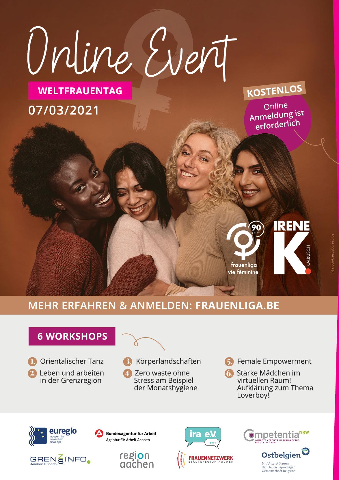 Weltfrauentag – kostenloses online Event 07.03.2021